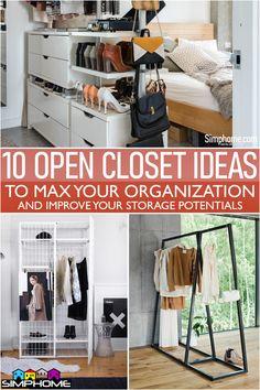 Find 10 Open Closet Ideas for you #Homedecor Space Saving Ideas For Home, Kitchen Furniture, Furniture Design, Closet Ideas, Wardrobe Rack, Destiny, Shoe Rack, Storage Spaces, Effort