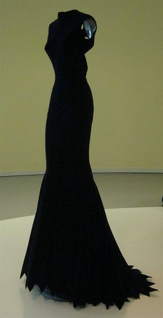 Alaia, the perfect long black dress