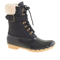 Women's Sperry Top-Sider for J.Crew shearwater buckle boots.