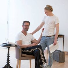 Rupert Everett & Freddie Fox / Rehearsing New Play Telling Oscar Wilde's Extraordinary Life Story