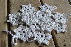 Crochet Snowflakes Garland