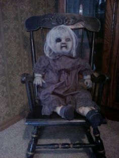 Creepy haunted doll!