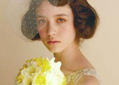 黒髪花嫁に似合うショートベールスタイルまとめ