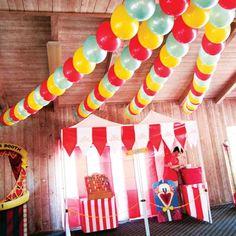 Fiesta infantil temática circo vintage