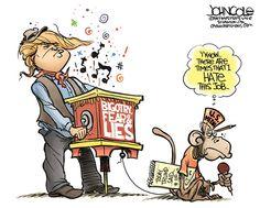 Trump's monkey, John Cole,The Scranton Times-Tribune,Donald Trump, media, reporters, racism, bigotry, muslims, islam, mexicans, mexico, GOP, lies