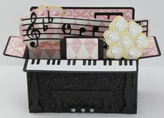 My Craft Spot: DT Post by Gwen - Piano Box Card!