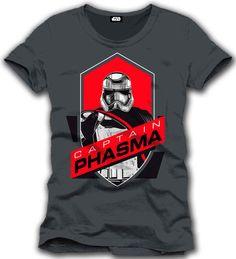 Camiseta Capitán Phasma. Star Wars Episodio VII Estupenda camiseta con el título Capitán Phasma, perteneciente al film Star Wars Episodio VII: El Despertar de la Fuerza, 100% oficial, licenciada y fabricada en material 100% algodón.