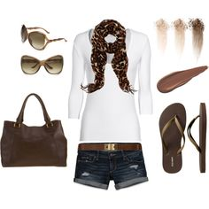 Brown&Leopard., created by khadijah-fennell.polyvore.com