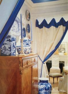 Frances Schultz Atlanta Townhouse. Love the draped entry.