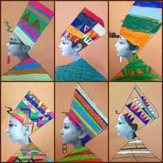 Studying Egypt? Here is a wonderful photo collage project your students will love | Elementary Art Lessons | art of Egypt | K-8 art lessons