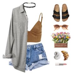 """brunch."" by gre17 ❤ liked on Polyvore featuring Madewell, Ray-Ban, Urban Trends Collection, Summer, summerstyle, summerfashion, fashionset and summer2016"