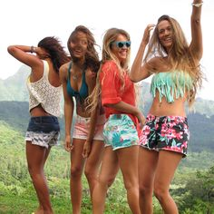 Make a Scene! Roxy printed shorts #DAREYOURSELF