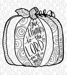 Thanksgiving coloring doodle page