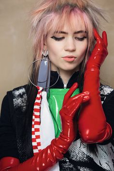 Grimes' music is being reworked for a classical concert Claire Boucher, Latex Gloves, Rubber Gloves, Gloves Fashion, Latex Fashion, Gothic Fashion, Grimes Music, Trash And Vaudeville, Long Gloves