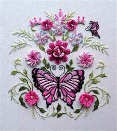 Free Embroidery Designs | Butterflies and Flowers