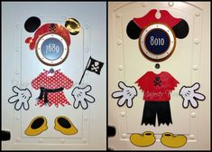 Pirate Mickey and Minnie Body Part Cruise Door Magnet