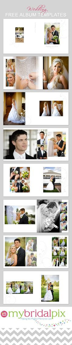 DIY Wedding Albums.  Simply drag and drop your images into ready made templates…