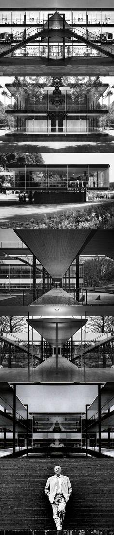 1958 Egon Eiermann - German Pavilion Brussels Expo / Germany Belgium / steel / black / Miesian