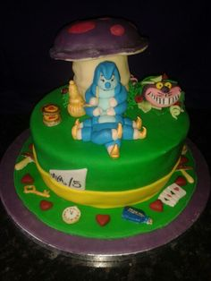 Alice in wonderland birthday cake.
