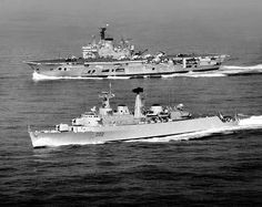 HMS Ark Royal R09 & HMS Devonshire D02