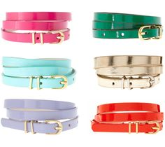 My favorite accessory this season! BELTS!