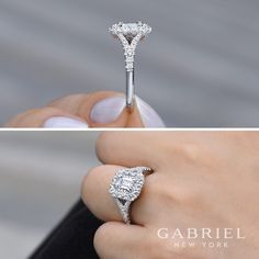 Unique gabriel new york engagement ring engagement rings for Jewelry stores in eau claire wi