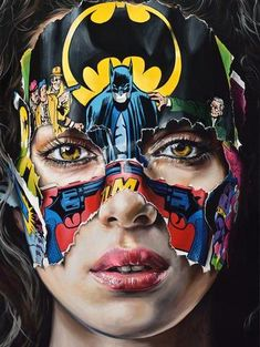 """Je N'ai Pas Peur, by Sandra Chevrier. A stirring amalgamation of street art and fine art, Sandra Chevrier's most iconic work stems from her """"C. Abstract Canvas, Oil Painting On Canvas, Pop Art, Sandra Chevrier, Street Art, Sculpture Museum, Photos Hd, Surf Art, Museum Of Modern Art"""