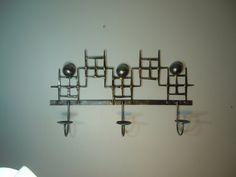 Mid Century Modern Brazed nail votive/tealight by jtbmetaldesigns, $52.00