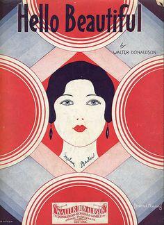 1931, Art Deco cover sheet music