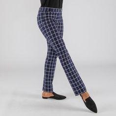 Macro-Grid Boot-Cut Ponte Dress Pants Dress Yoga Pants 984d30c6f00a0