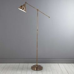 Add additional and practical lighting to your living space with our stylish adjustable antique brass floor lamp, featuring a lever arm so you can place the ligh. Antique Brass Floor Lamp, Brass Lamp, Antique Lamps, Antique Decor, Diy Floor Lamp, Rustic Lamps, Farmhouse Lamps, Bedroom Lamps, Decoration