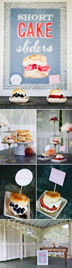 Short Cake Sliders .. cute idea for buffets?