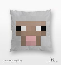 Minecraft Sheep Throw Pillow - Sheep Mine Craft
