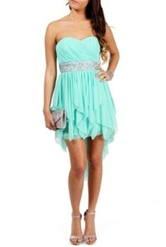 perfect eighth grade dance dress Semi Dresses, Hoco Dresses, Dresses For Teens, Trendy Dresses, Homecoming Dresses, Cute Dresses, Strapless Dress Formal, Beautiful Dresses, Dress Outfits