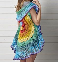 Image result for rainbow crochet cardigan
