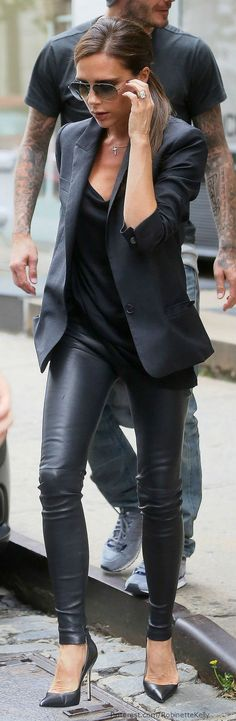 Stitch Fix: I love the black leather pants. I have a black blazer but would love a black basic to complete this look.