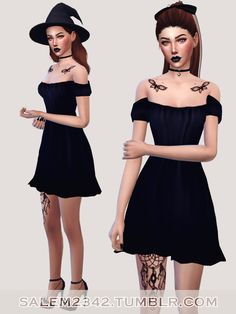 dress, hat http://ts4-mm-cc.tumblr.com/post/134850728522/salem2342-cap-sleeve-shift-dress-ts4