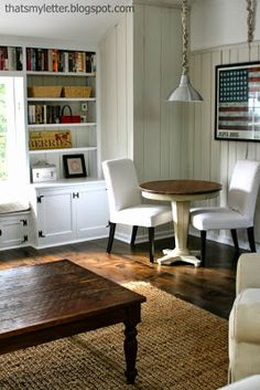 DIY HIGHLIGHTS: STYLISH SPACES. {family room makeover at That's My Letter} and more!