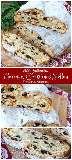 Flaky moist aromatic and divinely flavorful these homemade German Christmas Stollen are INCREDIBLE! Flaky moist aromatic and divinely flavorful these homemade German Christmas Stollen are INCREDIBLE! Christmas Bread, Christmas Desserts, Christmas Baking, German Christmas Stollen Recipe, German Christmas Food, Christmas Foods, German Christmas Traditions, Christmas Christmas, German Bread