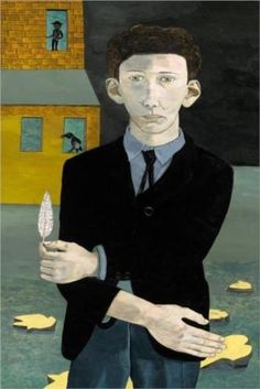 Man With a Feather (self portrait) 1943 Lucian Freud. http://gerryco23.wordpress.com/2012/02/27/lucian-freud-portraits-painted-life/