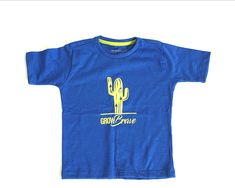 9e949a9a1 Toddler Graphic Cactus Tee Short Sleeve Shirt for Kids 2T - 6 - Royal Blue  Grow Brave - CV18GERL5A2 - Sports   Fitness Clothing