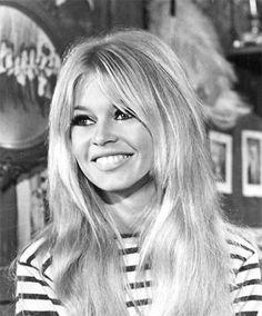 An iconic shot of Brigitte Bardot.