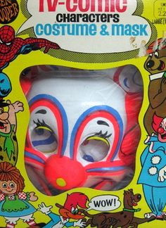 Vintage Ben Cooper TV-Comic Characters Bozo The Clown Halloween Costume MIB by socal72girl, via Flickr