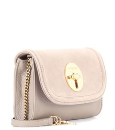 Lois Mini grey leather shoulder bag