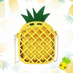Kawaii Pineapple Soft Leather Sling Purse