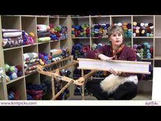 """intro to weaving.  This is a rigid heddle loom which is quite a bit different than a loom with heddles, shafts and treadles.  Same principle but threads go through holes in a """"rigid panel"""" is that is then moved up and down manually."""
