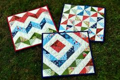 Tutorial for creating half-square triangle quilts
