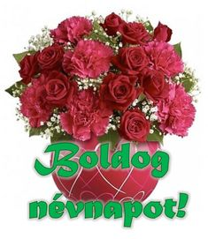 Névnap - jolka.qwqw.hu Name Day, Floral Wreath, Wreaths, Birthday, Decor, Saint Name Day, Birthdays, Decoration, Decorating