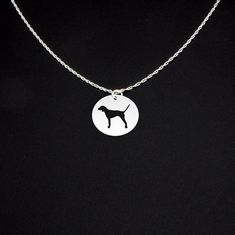 Bluetick Coonhound Necklace - Sterling Silver