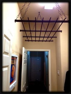 My DIY Laundry Drying Rack made from an old iron gate trellis